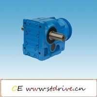 ST drive brand K97 model series high torque solid hollow shaft foot flange mounted helical bevel spiral geared motor AC unit