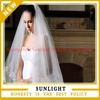 Hot sale new appliqued lace beaded one layer wedding cathedral train bridal veil