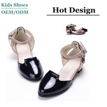 J-S0219 Most popular Black patent leather shoes dance sandals sexy high heel shoes girls cusp shoe