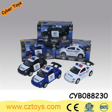 1:32 pull back diecast racing police car with light and music