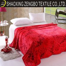 Deep red thick polyester wedding blanket