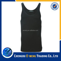 Wholesale blank cotton mens gym singlet for sports