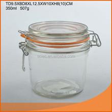 Machine made cheap clip top glass jar 150ml/200ml/350ml