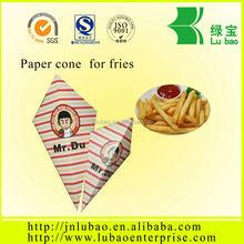 Fancy looking convenient paper potato chips cone&paper crepe cone popular in Autralia