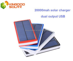 Customized power bank,fast charging slim Aluminium case 20000mah solar charger for mobile and ipad