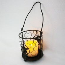 Iron holiday Candle lantern,electric candlestick,polished brass holder