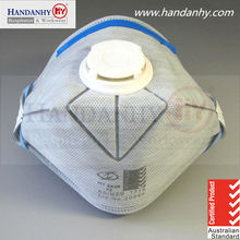 AS/NZS 1716 approved P2 foldable active carbon & valved respirator mask