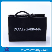 Hot factory direct sell custom reusable black coated paper shopping bag, printed cute paper bag for promotion