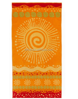 Cotton Craft - Jacquard Double Woven Velour Beach Towel Use for picnic poolside or as a colorful bath towel
