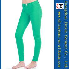 2013 nueva dama color barato barato OEM jeans dama mezclilla vaqueros (JXC29827)