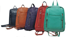228008 Black, Tan, Red, Purple and Green Back Pack