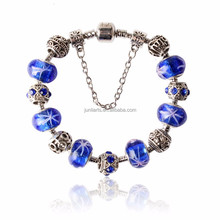 2015 Handmade Bracelet Sterling Silver DIY Murano Glass Beads Charms Gorgeous Fit European Painting Lamp Charm Ceramic Bracelet