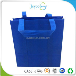 JEYCO BAGS Pass SGS test reusable vinyl non woven shopping tote bag with reinforced handle