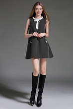 Hot Sale Cute Black Organic Cotton Sleeveless A Cut female fashion Dress