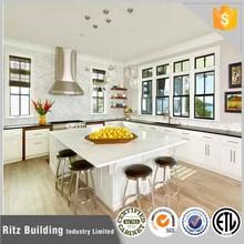 Best price pvc mdf kitchen cabinet wihtout handles