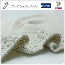 Jiufan Textile T/C Polyester & Cotton Lurex Fabric Fleece Knitted Fabric for Garment