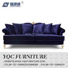 Y1236 hot sale italian style antique luxury fabric sofa
