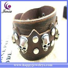 Latest design beautiful design best choice for women evil eye wrap leather bracelet SL0222-1