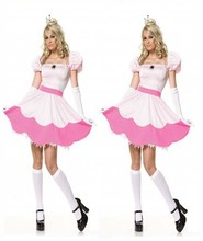 Sleeping Beauty Cosplay Dress Halloween Costume Women Snow Fairy Costumes for Adult Princess Peach Cosplay Costume