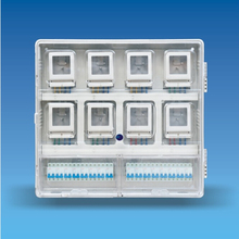A type single phase eight epitope mechanical, electronic, prepaid electric meter box