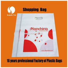 PE perforated shopping packaging plastic bags for clothes