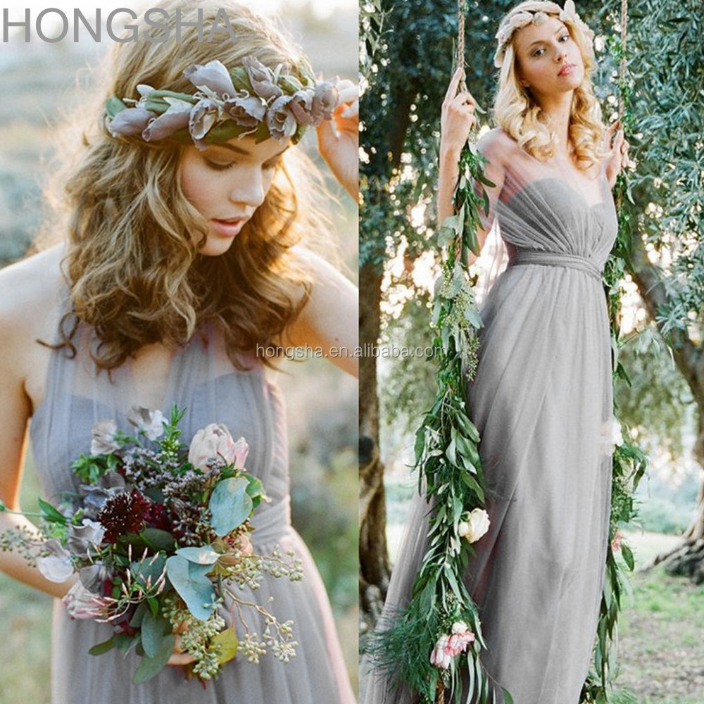 Long Bridesmaid Dress Two Color Made To Order Dresses China HSD1553 3