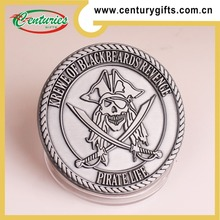 High quality custom PIRATE antique silver plated challenge coin