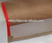 PTFE teflon coated fiberglass fabric mesh conveyor belt,edge reinforced