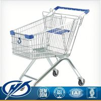 Lower Price Colorful Customizable Shopping Cart With Three Wheel