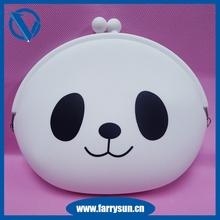 2015 High grade silicone cute panda shaped purses/ fashion bags/white purses