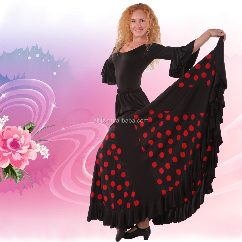 new style fantaisie flamenco espagnol robe de danse. Black Bedroom Furniture Sets. Home Design Ideas