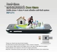 Hot! Door lock SIM RF-V11 mini Independent GSM Door Magnetic and Vibration Alarm With Active Listening Vibration Alarm