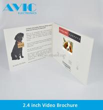 Video brochure card custom 4C CUSTOM printing 2.4''2.8'' 4.3'' 5''7''10''13.5' 'LCD video brochure