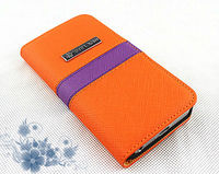 sublimation cell phone for iphone 5 wallet leather case with card slots for mobile phone