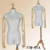 realistic adjustable wooden tailor mannequins