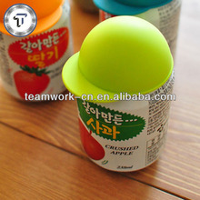 New design hat shape tin can silicone lid