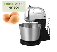 professional mini stainless steel electric egg beater with bowl