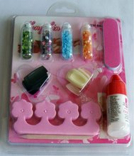 nail art set/stamping plates, 3d nail art with dazzling flakes/glitter/flitter/beads decoration set ( HL-058 ),