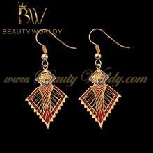 2015 latest design cloisonne chanderlier earring