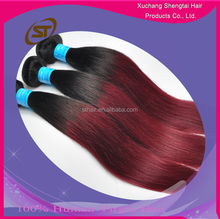 Wholesale Peruvian Hair Two Tone Ombre Hair Weaves, Peruvian Virgin Hair, 100% Peruvian Hair Weaving