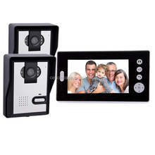 """2.4G Digital7"""" TFT Color Wireless Video Door Phone with 6pcs LED Night-Viewing"""