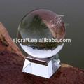 transparente claro bola bola de cristal con la base para la oficina de mesa de escritorio decoración recuerdos de negocios