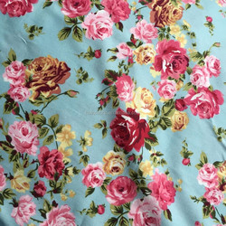 2015 Hot 160CM Width Blue 100% Cotton Floral Fabric For Hanmade Sewing Dress