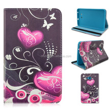 Red Heart TPU+PU Leather Tablet Cover Case For Samsung Galaxy Tab 3 Lite 7inch T110/T111That Can Flip Folio Stand Factory Sale