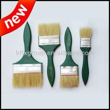 green wooden handle hog bristle paint brush set