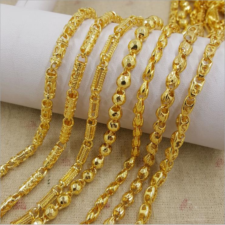 Wholesale Dubai New 18k Gold Chain Necklace Design For Men
