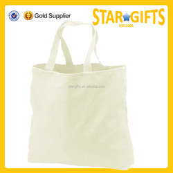 Top selling products 2015 wholesale white blank cotton tote bags