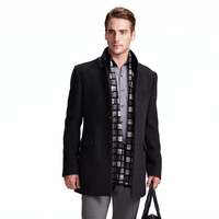 2015 cheap woven wool fabric for winter overcoat men long coats for sale