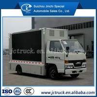 advertising truck for sale/Mini LED truck JMC 4X2 led lamp for truck