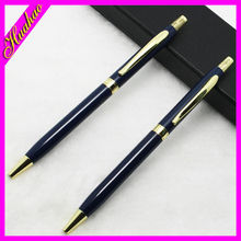 logo printed click style aluminum pen cheap metal ball pen